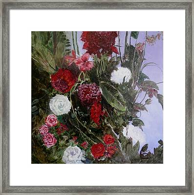 Table Roses Framed Print
