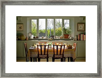 Table Set For A Breakfast Meal Framed Print by Jaynes Gallery