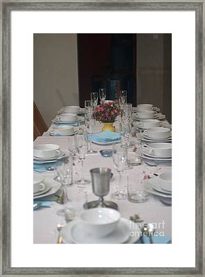 Table Set For A Jewish Festive Meal Framed Print by Ilan Rosen