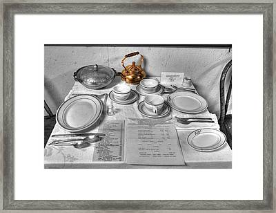 Table Set For Two Framed Print by David Simons