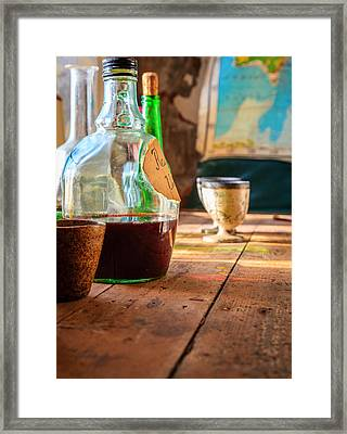 Table Setting Framed Print by Alexey Stiop