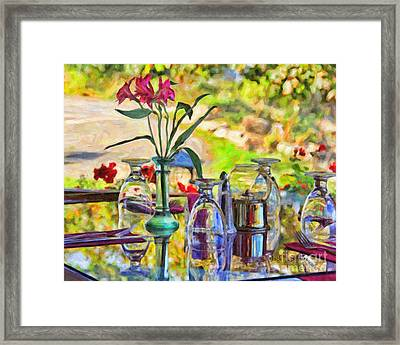 Table Setting Reflections Framed Print by Jack Schultz