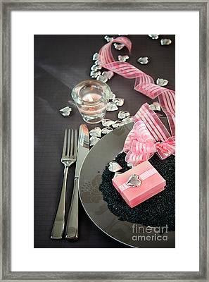 Table Settings Framed Print