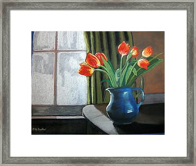 Table Top Tulips Framed Print