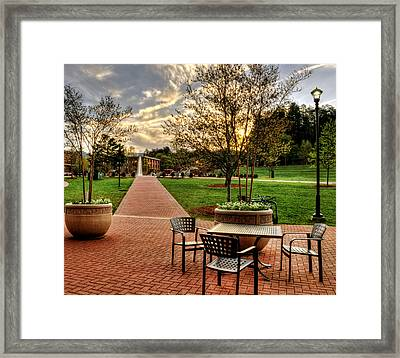 Table With Water - Wcu Framed Print