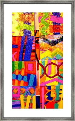 Painting Collage I Framed Print by John  Nolan