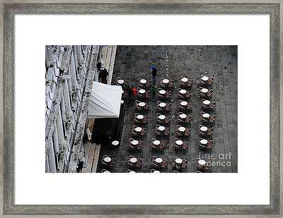 Tables At Florian's Framed Print by Jacqueline M Lewis