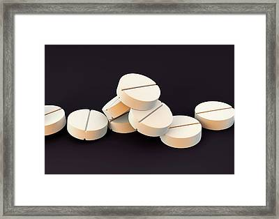 Tablets Framed Print by Science Artwork
