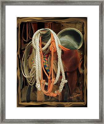 Tack Room Beauty Framed Print