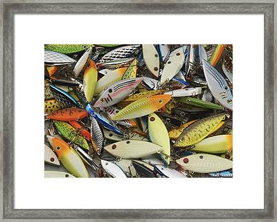 Tackle Box Tangle Framed Print by Jerry McElroy