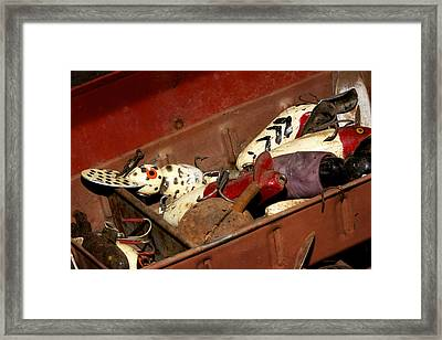Tackle Box Treasures Framed Print by Phyllis Denton