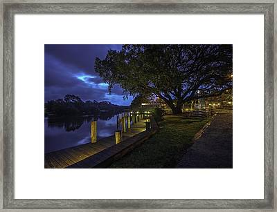 Framed Print featuring the digital art Tacky Jacks Before The Storm by Michael Thomas