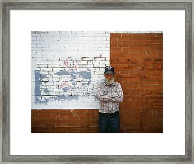Taco Bell Poser Framed Print