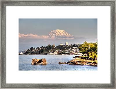 Tacoma City Skyline Framed Print