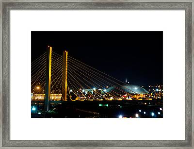 Tacoma Dome And Bridge Framed Print