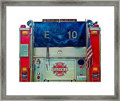 Tacoma Fire Dept. Framed Print by Tikvah's Hope