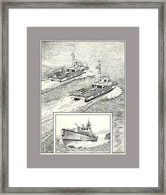 Tacoma Fireboats New And Old Number 1 Framed Print