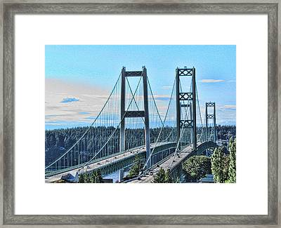 Tacoma Narrows Bridge 51 Framed Print