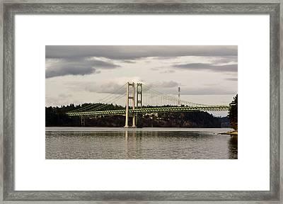 Tacoma Narrows Bridge II Framed Print by Ron Roberts