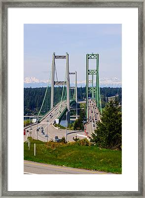 Tacoma Narrows Bridge Framed Print