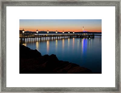 Tacoma Sunset Framed Print by Bob Noble Photography