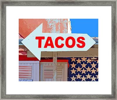 Tacos Framed Print by Charlette Miller