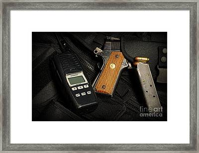 Tactical Gear - Gun  Framed Print by Paul Ward