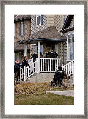 Tactical Paramedic With Police Framed Print by Kevin Link