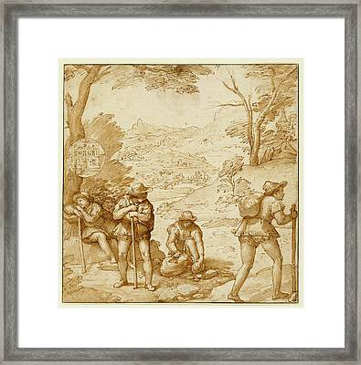 Taddeos Hallucination Federico Zuccaro Framed Print by Litz Collection