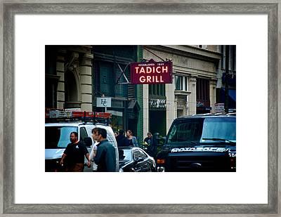 Tadich Grill Framed Print