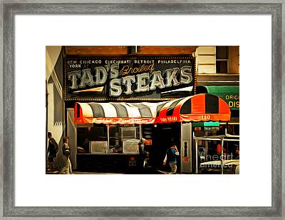 Tads Broiled Steaks Restaurant San Francisco 5d17955brun Framed Print by Wingsdomain Art and Photography