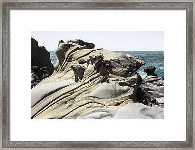 Tafoni Globe And Diagonal Crevices Framed Print by Studio Janney