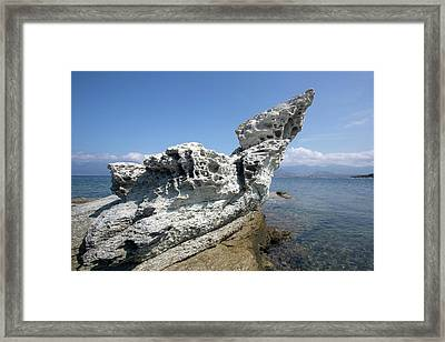 Tafoni Weathering In Corsica Framed Print
