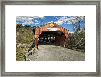 Taftsville Vermont Covered Bridge Framed Print by Constantine Gregory