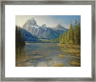 Taggart Lake Shallows Framed Print by Gary Huber