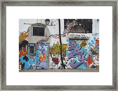 Framed Print featuring the photograph Tagging North Philly by Christopher Woods