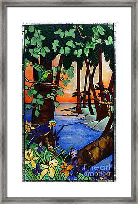 Tahiti Window Framed Print by Peter Piatt