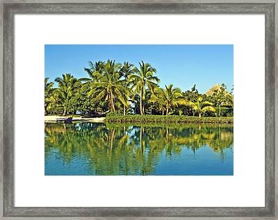 Tahitian Lagoon Framed Print