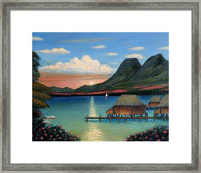 Tahitian Sunset Framed Print