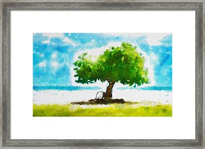 Framed Print featuring the painting Summer Magic by Greg Collins