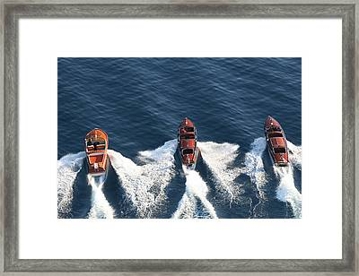 Classic Wooden Runabouts Framed Print