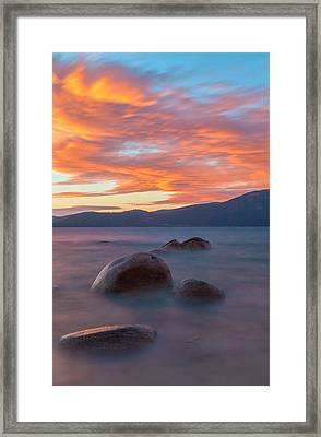 Tahoe Burning Framed Print