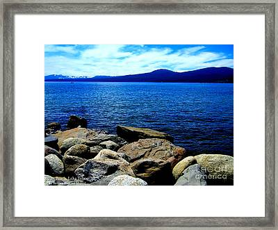 Framed Print featuring the photograph Tahoe Magic by Bobbee Rickard