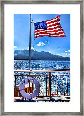 Tahoe Queen Lake Tahoe By Diana Sainz Framed Print