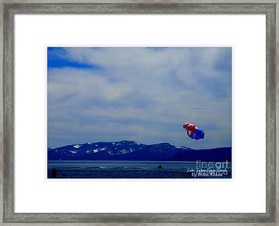 Tahoe Recreation Framed Print