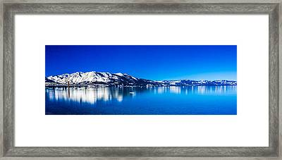 Tahoe Reflection Framed Print by Mike Lee