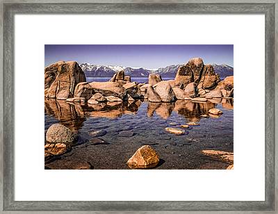 Framed Print featuring the photograph Tahoe Reflections by Steven Bateson
