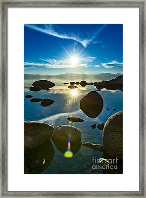 Tahoe Star Framed Print by Jamie Pham