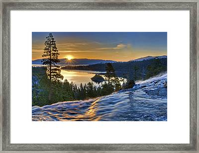 Tahoe Sunrise Framed Print