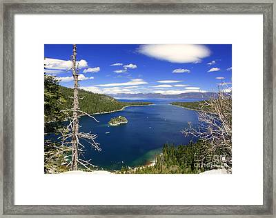 Tahoe's Emerald Bay Framed Print by Patrick Witz